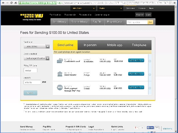 Transaction fee western union - Sears last minute travel